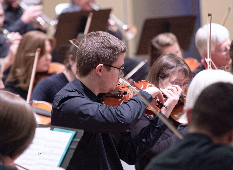 Image de l'orchestre des 3 chènes en répétition