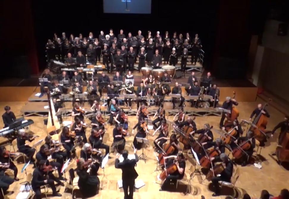 L'orchestre avec le chœur classique du Pays de Gex, juin 2019, Thônex