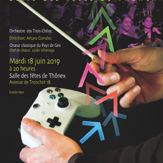 Flyer du concert jeux vidéo de juin 2019