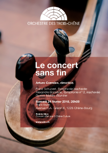 Flyer Le concert sans fin