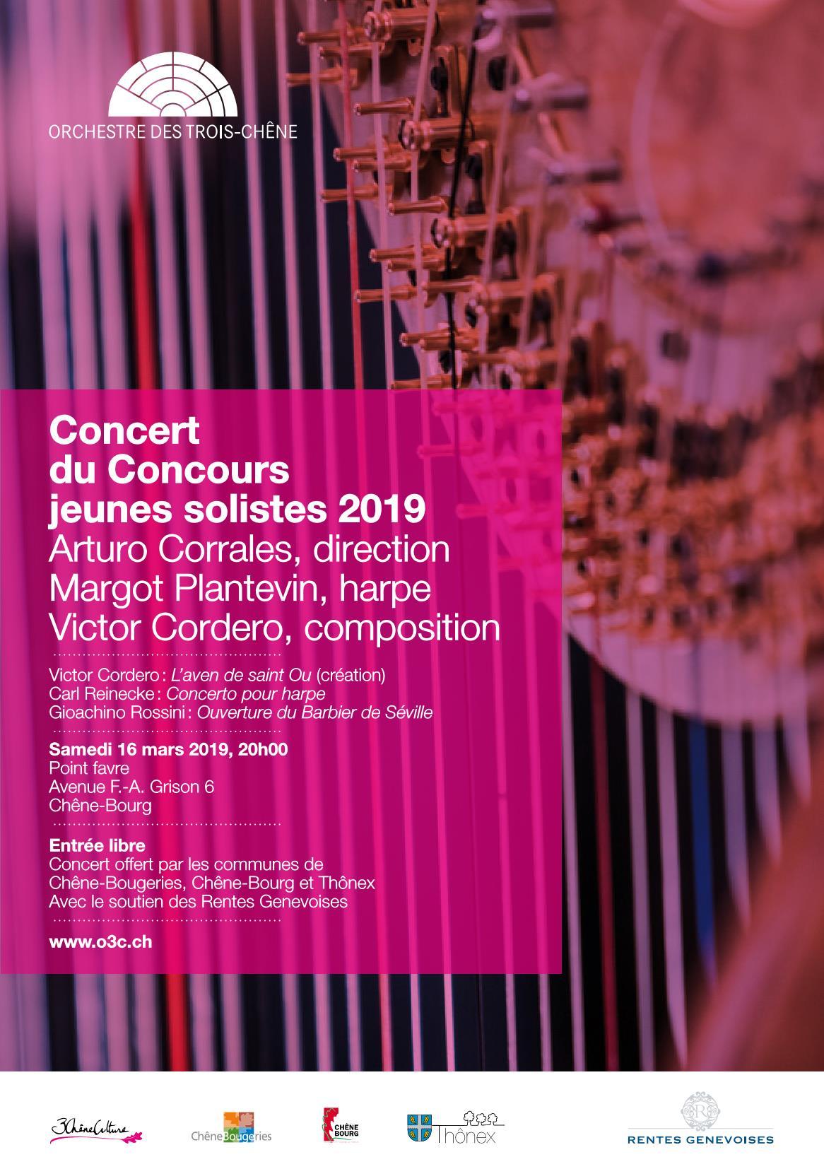 Flyer Concert du Concours jeunes solistes 2019