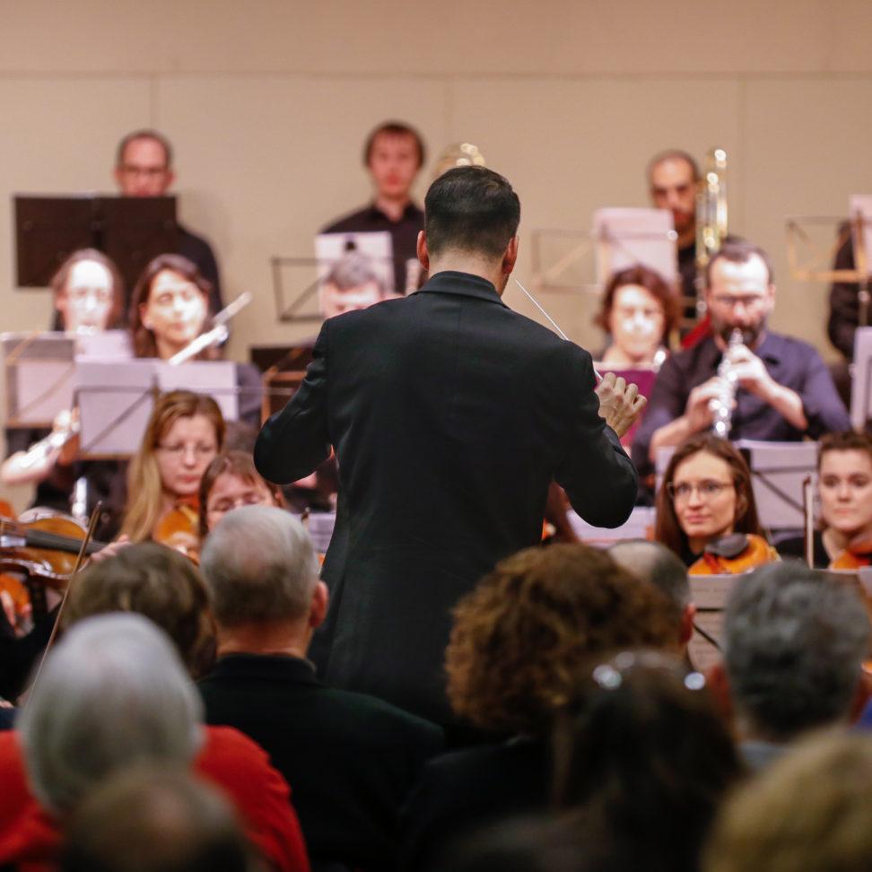 L'orchestre au Point favre en février 2018