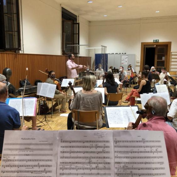 L'orchestre en répétition en octobre 2020